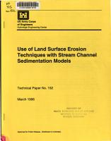 Use of Land Surface Erosion Techniques with Stream Channel Sedimentation Models PDF