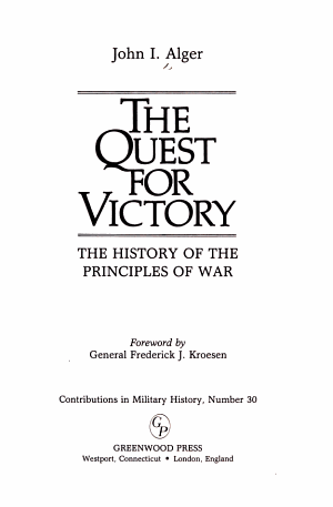 The Quest for Victory PDF