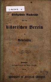 Nachricht über den Historischen Verein für Niedersachsen: Ausgabe 17