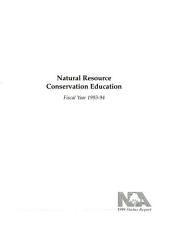 Natural resource conservation program: fiscal year 1993-94