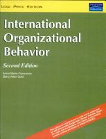 International Organizational Behavior  2 e PDF