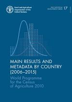 Main results and metadata by country (2006–2015)