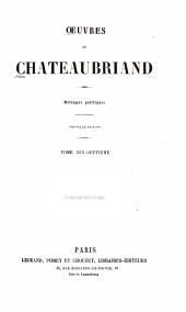 Oeuvres de Chateaubriand: Volumes17à18