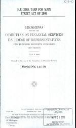 H.R. 3068, TARP for Main Street Act of 2009