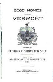 Good Homes in Vermont: A List of Desirable Farms for Sale