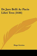 De Jure Belli AC Pacis Libri Tres  1646  PDF