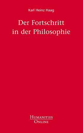 Der Fortschritt in der Philosophie PDF