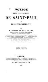 Voyage dans les provinces de Saint-Paul et de Sainte-Catherine: Volume2