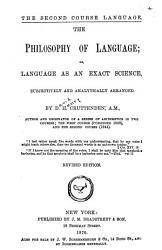 The Philosophy of Language  Or  Language as an Exact Science PDF