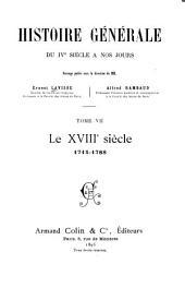 Le XVIIIe siecle, 1715-1788