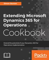Extending Microsoft Dynamics 365 for Operations Cookbook PDF