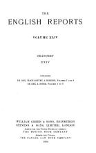 The English Reports  Chancery  including collateral reports   1557 1865  PDF