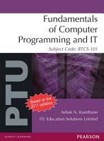 Fundamentals of Computer Programming and IT  For PTU PDF