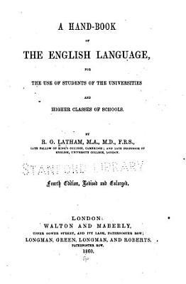A Hand book of the English Language PDF