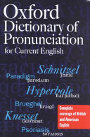 The Oxford Dictionary of Pronunciation for Current English PDF