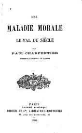 La maladie morale: le mal du siècle