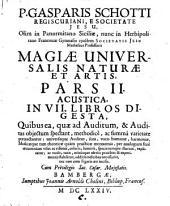Magia universalis natura et artis: Volume 2