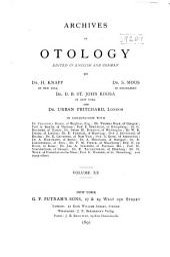 Archives of Otology: Volume 20