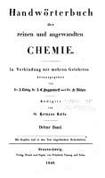Handw  rterbuch Der Reinen und Angewandten Chemie     PDF