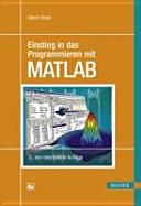 Einstieg in das Programmieren mit MATLAB PDF