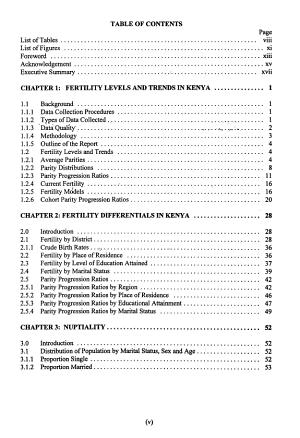 Kenya Population Census  1989  Fertility and nuptiality PDF