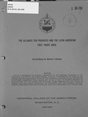 The Alliance for Progress and the Latin American Free Trade Area PDF