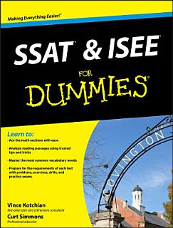SSAT and ISEE For Dummies Book