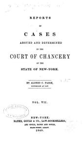 Reports of Cases Argued and Determined in the Court of Chancery of the State of New York [1828-1845]: Volume 15