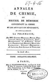 Annales de chimie ou Recueil de mémoires concernant la chimie et les arts qui en dépendent: Volume78