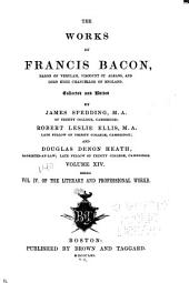 Works of Francis Bacon: Volume 14