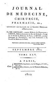 Journal de médecine, chirurgie, pharmacie, etc: Volume25