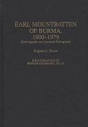 Earl Mountbatten of Burma, 1900-1979
