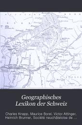 Geographisches Lexikon der Schweiz: Band 4