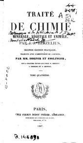 Traité de chimie minerale, végétale et animale: Volume4