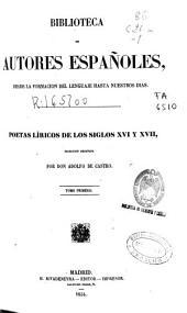 Poetas líricos de los siglos XVI y XVII: (1854. XXXVI, 553 p.)