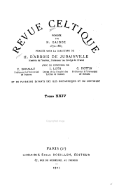 Revue celtique: Volumes 24 à 25
