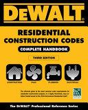 DEWALT 2018 Residential Construction Codes  Complete Handbook PDF
