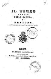 Il Timeo, ovvero Della natura Platone