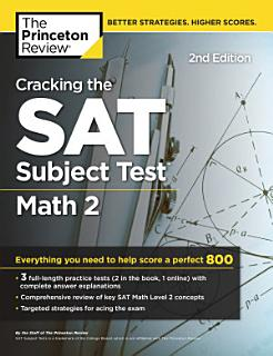 Cracking the SAT Subject Test in Math 2  2nd Edition Book