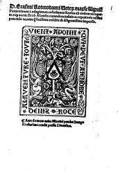 Veterum ... paroemiarum ... adagiorum collectanea