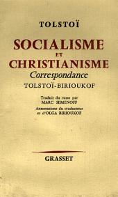 Socialisme et christianisme: Correspondance