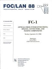 Optical Fiber Interconnections: Splices, Connectors and Passive Components