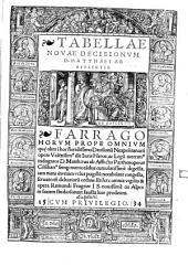 Decisiones Neapolitanae: Tabellae Novae Decisionum D. Matthaei ab Afflictis. 2