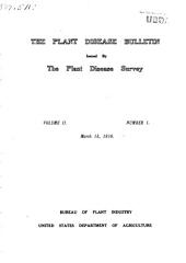 The Plant Disease Bulletin: Volume 2