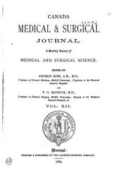 The Montreal Medical Journal: Volume 12