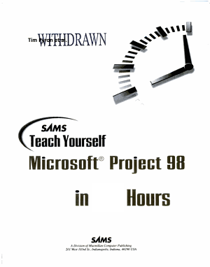 Sams Teach Yourself Microsoft Project 98 in 24 Hours PDF