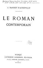 XIXe [i.e. dix-neuvième] siècle: Le roman comtemporain