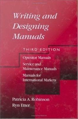 Writing and Designing Manuals