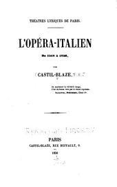 L'Opéra-Italien de 1548 à 1856