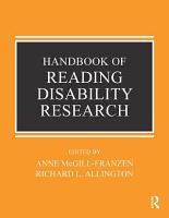 Handbook of Research on Reading Disabilities PDF